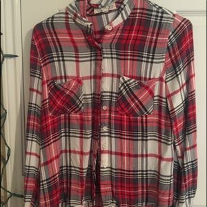Tops - A red and white flannel